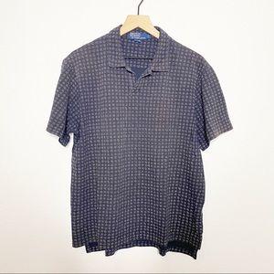 [Polo Ralph Lauren] Navy Blue Printed Polo Shirt